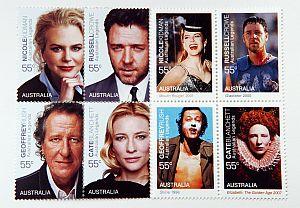 オスカー女優キッドマンさんら4人の記念切手