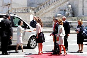 麻生首相夫人がローマの休日
