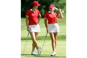 女子プロゴルフ米欧対抗戦、米チームが練習ラウンド