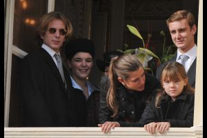 モナコ王室ファミリーが祝賀で里帰り