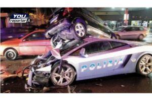 世界最速ランボルギーニパトカーが全損事故