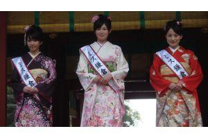 「2010ミス鎌倉」が鶴岡八幡宮でお披露目