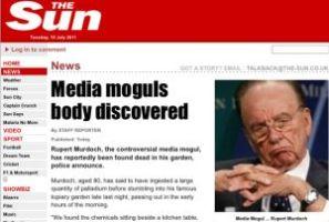 ザ・サンをハッキングし「メディア王死去」架空報道