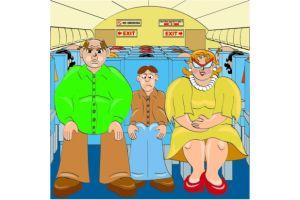 航空機内、隣の180キロ乗客のせいで7時間座れず