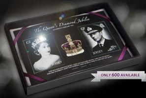 エリザベス女王のダイヤ入り切手発売