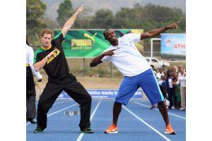 ヘンリー王子とボルト選手が100米でガチ勝負