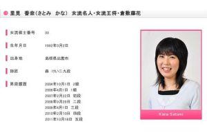 里見香奈さん(20)が最年少で将棋女流4冠