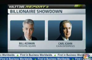 米二大投資家、TV論戦で「ピー」音連発