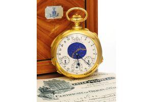 史上最高額24億円で落札、パテック・フィリップ懐中時計(サザビーズ)